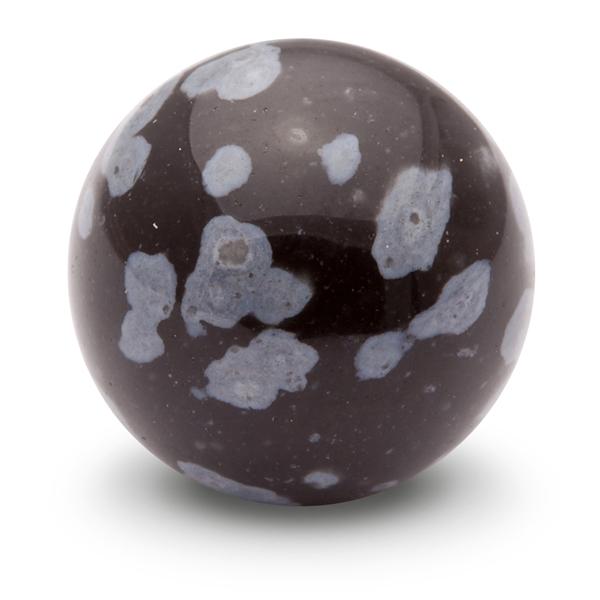 White Snowflake Obsidian : Snowflake obsidian